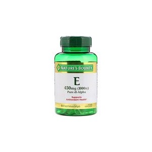 Natures Bounty Vitamin E Pure Dl-Alpha 450 mg (1000 IU) 60 Rapid Release Softgels