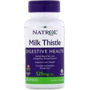 Natrol Milk Thistle 525 mg 60 Capsules