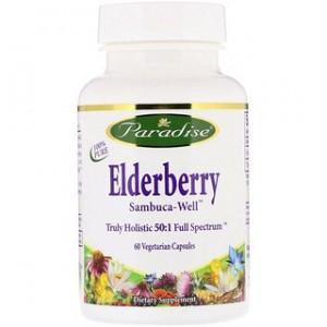 Paradise Herbs Elderberry 60 Vegetarian Capsules