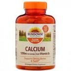 Sundown Naturals Calcium Plus Vitamin D3 1200 mg 170 Softgels
