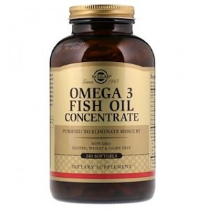 Solgar Omega-3 Fish Oil Concentrate 240 Softgels
