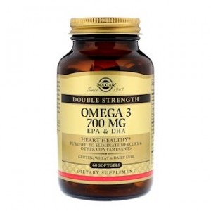 Solgar Omega-3 EPA & DHA Double Strength 700 mg 60 Softgels