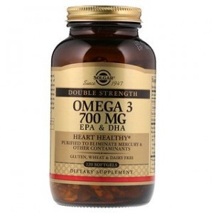 Solgar Omega-3 EPA & DHA Double Strength 700 mg 120 Softgels