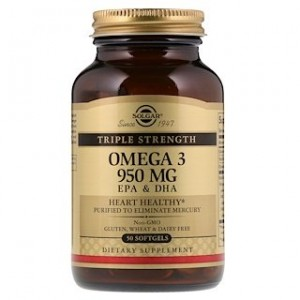 Solgar Omega-3 EPA & DHA Triple Strength 950 mg 50 Softgels