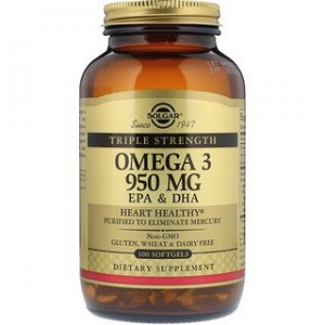 Solgar Omega-3 EPA & DHA Triple Strength 950 mg 100 Softgels