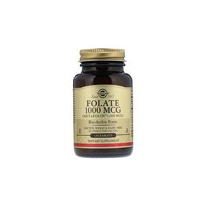 Solgar Folate as Metafolin 1000 mcg 120 Tablets
