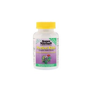 Super Nutrition Perfect Kids Complete Multi-Vitamin Wild-Berry Flavor 60 Vegetarian Chewable Tablets