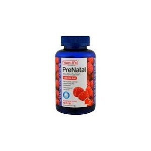 YumVs PreNatal Multivitamin with Folic Acid Berry Flavors 90 Jellies