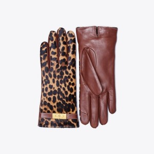 Printed Calf Hair Gloves