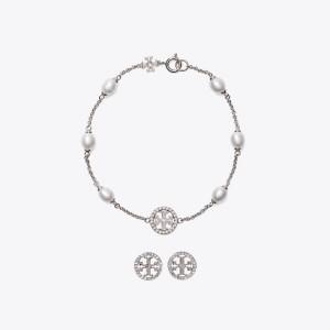 Miller Pave Bracelet & Stud Earring Gift Set