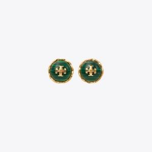 Roxanne Semiprecious Circle-Stud Earring