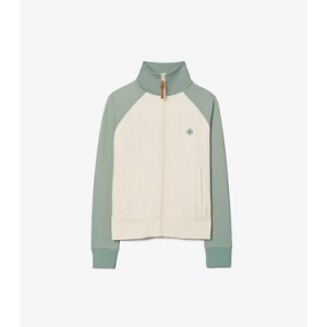 Color-Block Double Knit Track Jacket