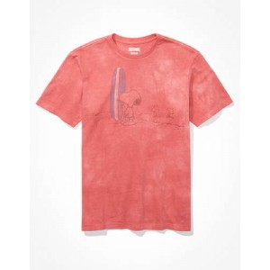 Tailgate for Surfrider Mens Tie-Dye Snoopy Graphic T-Shirt