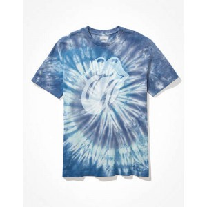 Tailgate for Surfrider Mens Tie-Dye Rolling Stones Graphic T-Shirt