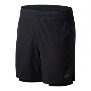 Mens Core 2 In 1 Woven 7 Inch Short