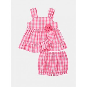 TH Baby Gingham Top And Short Set