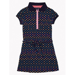 Multicolor Print Polo Dress