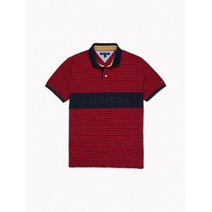 Slim Fit Logo Stripe Polo