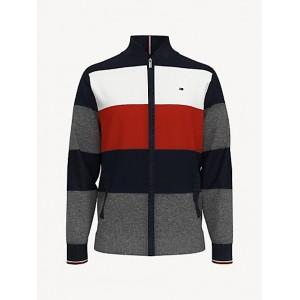 Essential Zip Colorblock Baseball Sweater