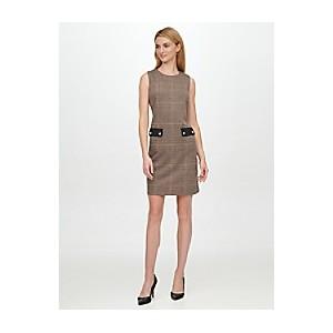 Essential Sleeveless Houndstooth Dress