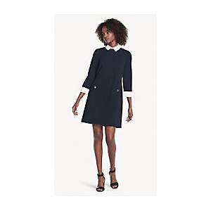 Essential Collared Long-Sleeve Dress