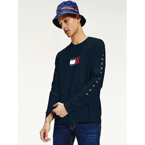 Tommy Logo Long-Sleeve T-Shirt