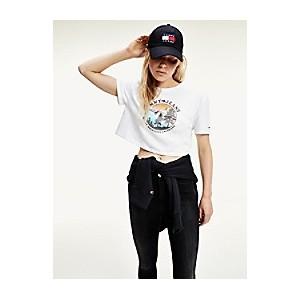 Organic Cotton Cropped Mountain T-Shirt