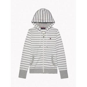 Essential Stripe Zip Hoodie
