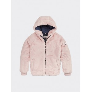 TH Kids Faux Fur Hooded Jacket