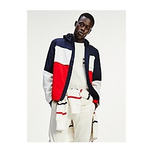 Recycled Hooded Colorblock Tech Jacket