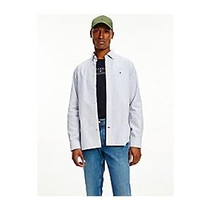 Regular Fit Organic Cotton Peached Stripe Shirt