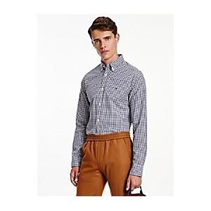 Slim Fit Organic Cotton Gingham Shirt