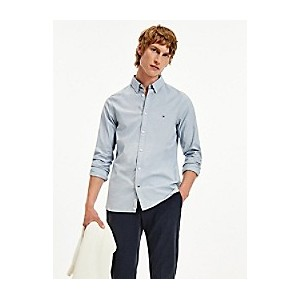 Slim Fit Organic Cotton Fil Coupe Shirt