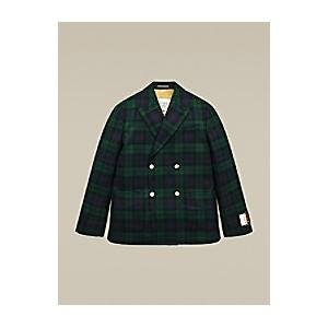 Hilfiger Collection Boxy Double Breasted Check Blazer