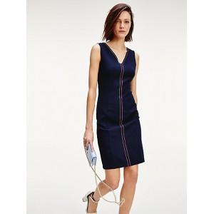 Sleeveless Tipped Dress