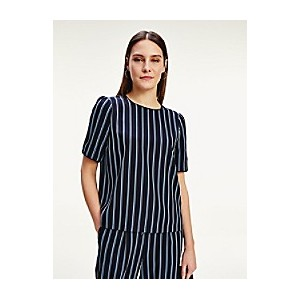 Short-Sleeve Stripe Top