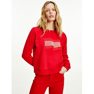 Icon Organic Cotton Wavy Flag Sweatshirt