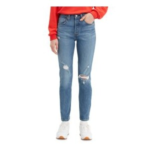 Womens 501 Distressed Skinny Jeans
