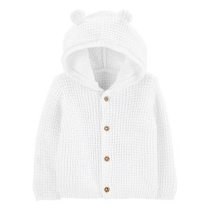 Baby Boys or Girls Hooded Cotton Cardigan Sweater