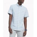 Mens Custom-Fit TH Flex Stretch Poplin Hill Stripe Shirt