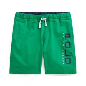 Toddler Boys Logo Stretch Poplin Shorts