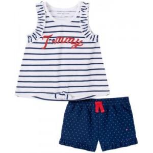 Little Girls Striped Tank Top and Polka-Dot Shorts Set, 2-Piece