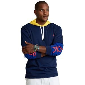 Mens Big & Tall Logo Jersey Hooded T-Shirt