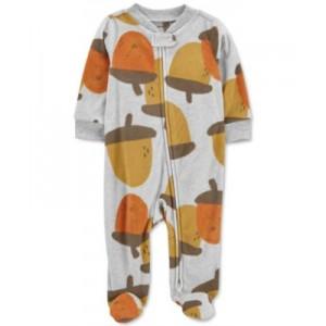 Baby Boys Acorn-Print Fleece Coverall
