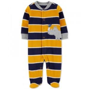 Baby Boys Rhino Snap-Up Fleece Coverall