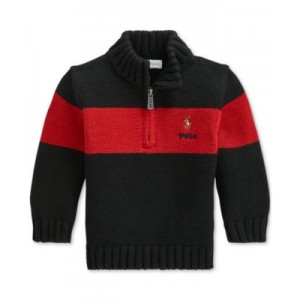 Baby Boys Cotton Quarter-Zip Sweater
