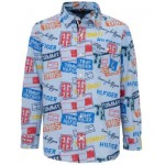 Little Boys Printed Patches Shirt