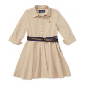 Toddler Girls Chino Cotton Shirtdress