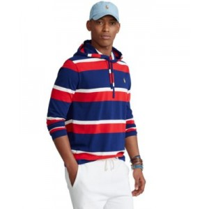 Mens Striped Jersey Hooded T-Shirt