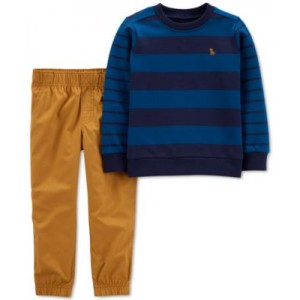 Baby Boys 2-Pc. French Terry Pullover & Pants Set